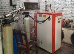 河南安阳屠宰场用蒸汽发生器加水温